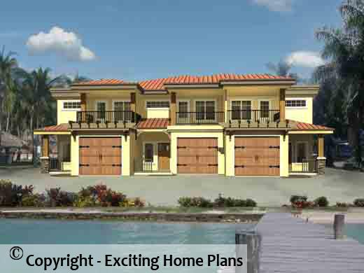 House Plan Information for E102110 – Triplex Floor Plans With Garage