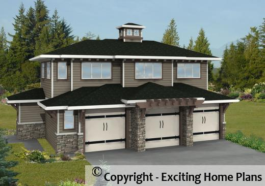 House plan information for e1115 10 for Modern carriage house plans