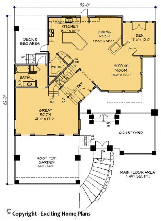 Modern House Garage Dream Cottage Blueprints by Exciting Home Plans – Hillside House Floor Plans