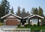 Auburn - Prairie Style Bungalow - Front View of House