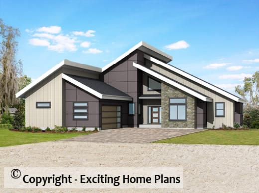 Modern House, Garage U0026 Dream Cottage Blueprints By Exciting ...