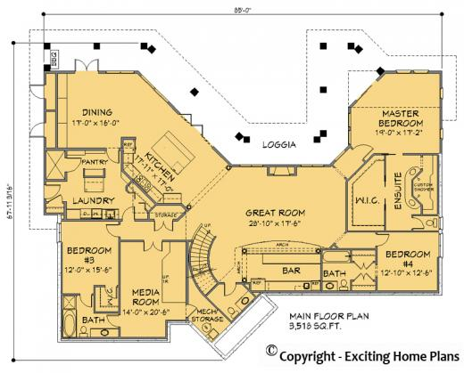 Modern House Garage Dream Cottage Blueprints by Exciting Home Plans – Estate Home Floor Plans