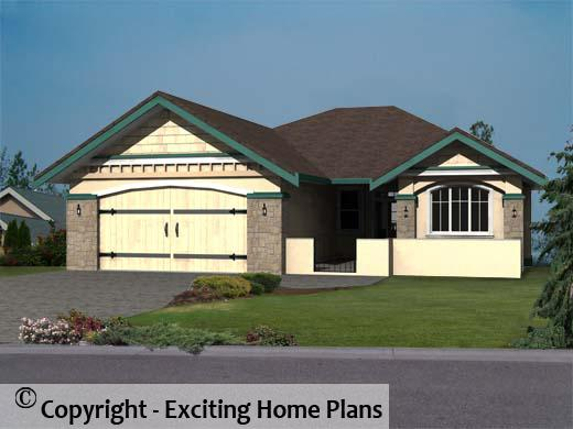 Modern House, Garage & Dream Cottage Blueprints by Exciting Home Plans