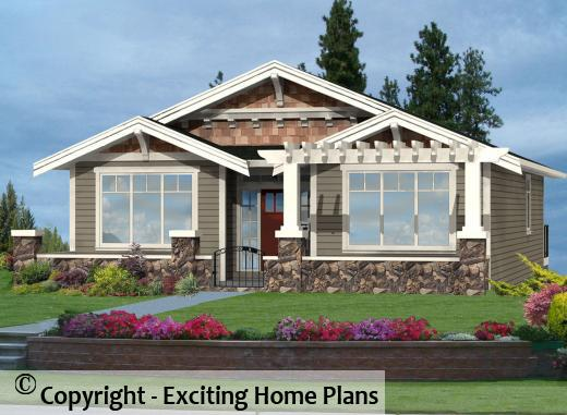 Clairemont   Bungalow Home Design   Front View Of House