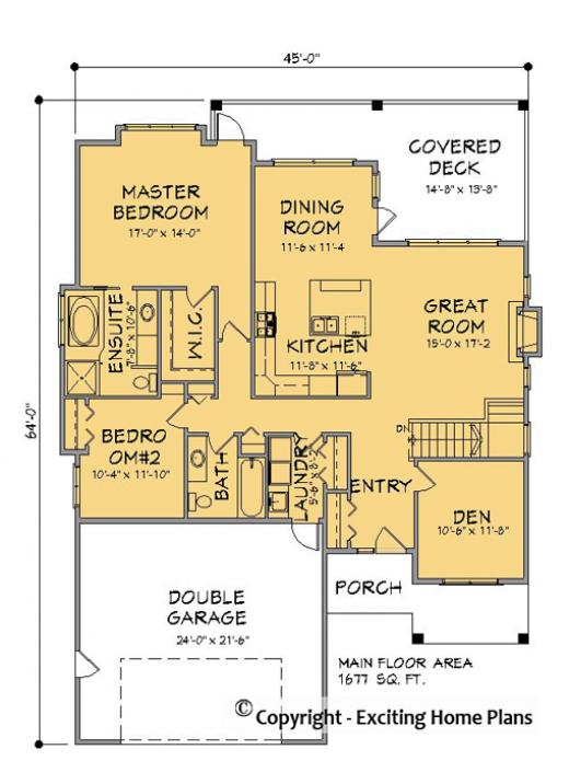 Eskdale Bungalow Main Floor Plan