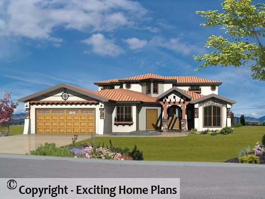 Los Altos - 2 Storey Tuscan Design - Front View of House