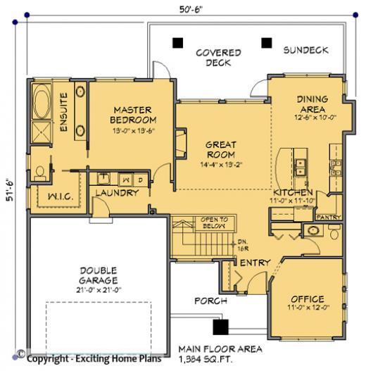 Modern house garage dream cottage blueprints by for Ashby house plan