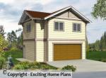 Atworth - Carriage House – Building Plans Front Exterior 3D View