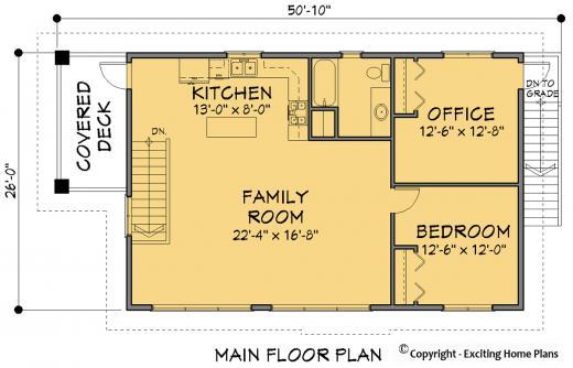 emery carriage house building plans main floor plan - Carriage House Floor Plans