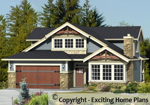 Modern house garage dream cottage blueprints by for One and a half story homes
