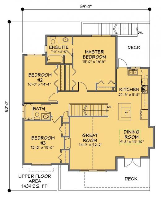 Modern House Garage Dream Cottage Blueprints By