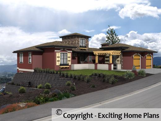 Kaulkin - Tuscan - 1 Storey Home -Front Exterior 3D View - Rendering of Home