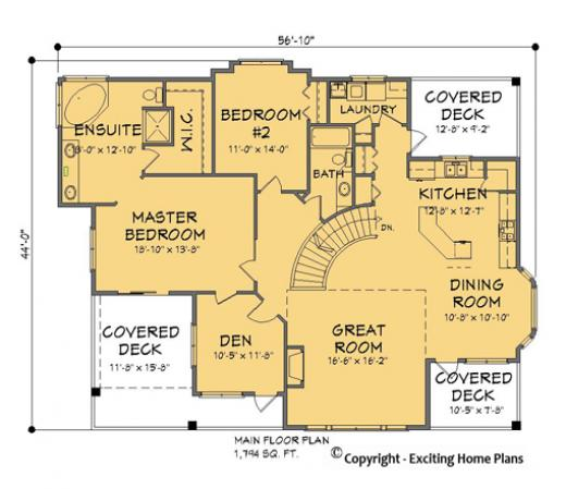 Modern House Garage Dream Cottage Blueprints by Exciting Home Plans