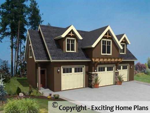 Arcadian - Carriage House – Building Plans - House Rendering